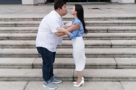 개그맨 유민상과 김하영이 뜨거운 키스로 서로의 마음을 확인한다. /사진=KBS 제공