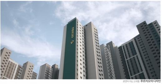 새 푸르지오 TV광고의 한 장면. /사진=대우건설