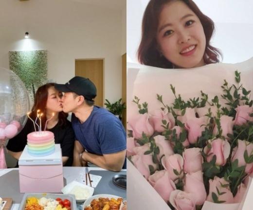 개그맨 김원효·심진화 부부가 결혼 10년차에도 여전히 신혼같은 달달함을 뽐냈다. /사진=심진화 인스타그램