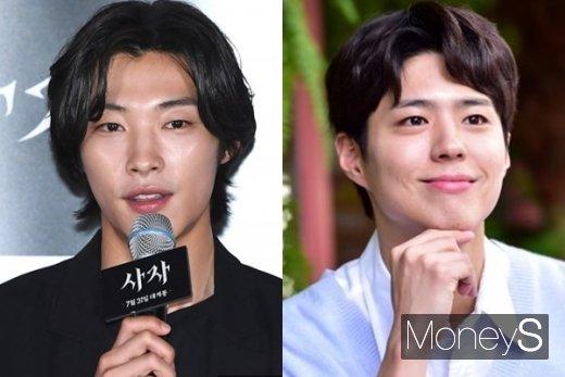 20대 남자 연기자들의 군입대 소식이 이어지고 있다. 사진은 배우 우도환과 박보검(왼쪽부터). /사진=장동규 기자