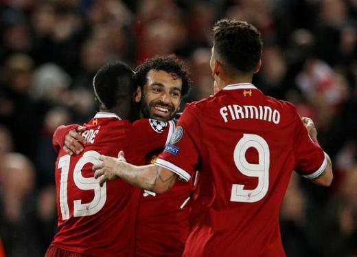 리버풀 공격수 사디오 마네와 모하메드 살라, 호베르투 피르미누(왼쪽부터). 세 선수는 리버풀 반등의 핵심으로 손꼽힌다. /사진=로이터