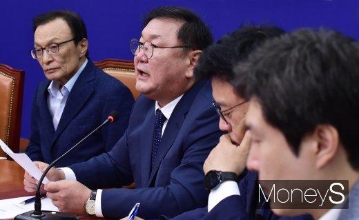 """[머니S포토] 민주당 김태년, """"통합당, 어떤 결론 내리든 본회의 열고 국회 정상화할 것"""""""