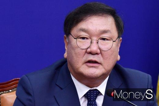 """[머니S포토] 민주당 김태년, """"오늘 어떤 말보다 결과로 보여줄 것"""""""