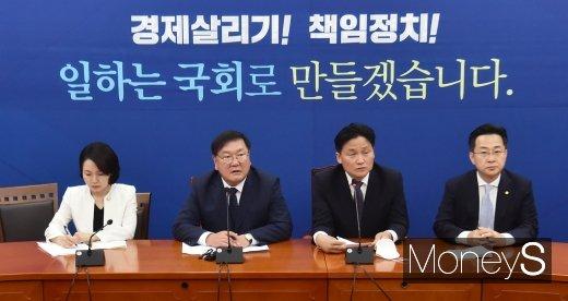 [머니S포토] 민주당 김태년, 21대 원구성 결렬 후 기자회견 개최