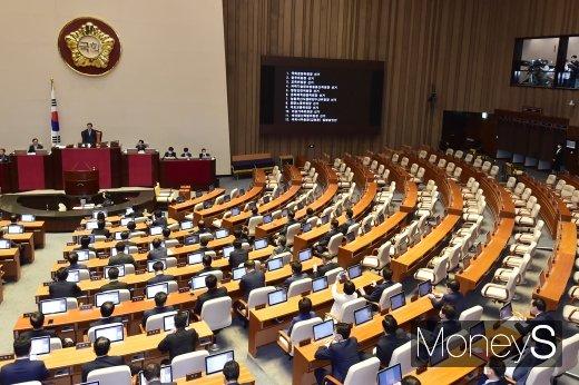 [머니S포토] 박병석 의장, 11개 상임위 구성관련 국회 본회의 주재