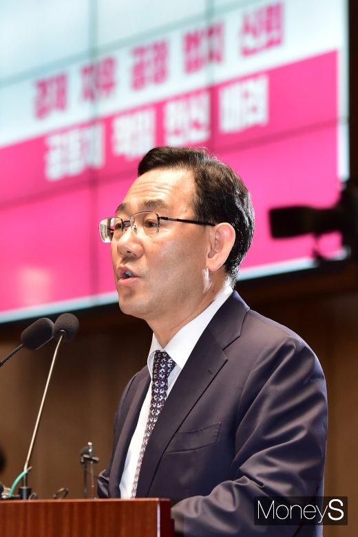 """[머니S포토] 통합당 주호영 """"상임위 표기…정권 몰락의 길로 들어섰다고 기록될 것"""""""