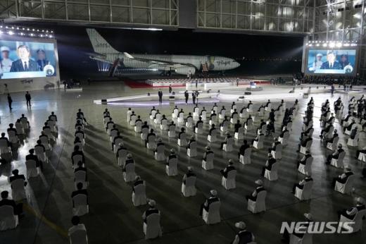 6·25전쟁 70주년 추념식에서 편곡해 연주한 애국가 도입부가 북한 애국가와 유사했다는 지적에 담당 부처인 국가보훈처가 반박하고 나섰다. /사진=뉴시스