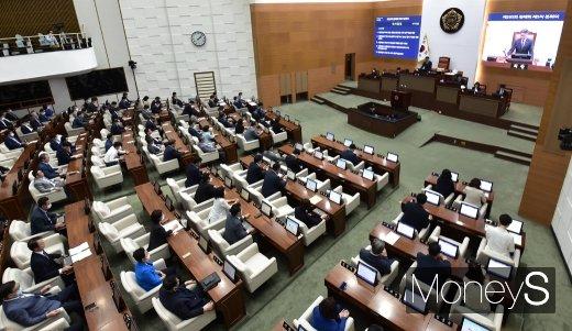 [머니S포토] 서울시의회, 123건 관련 안건 본회의 개회