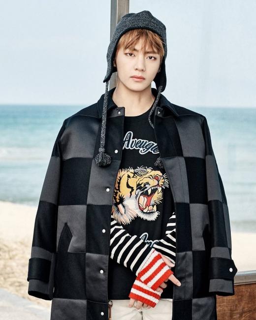 그룹 방탄소년단 뷔가 작업 중인 자작곡 일부를 공개했다. /사진=방탄소년단 인스타그램