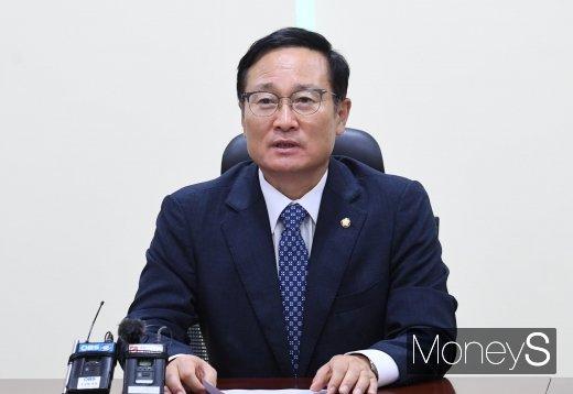 [머니S포토] 홍영표 의원 '당대표 선거 불출마 선언'