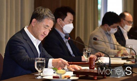 [머니S포토] 박능후 보건복지부 장관, 제59차 '중앙생활보장위원회' 주재