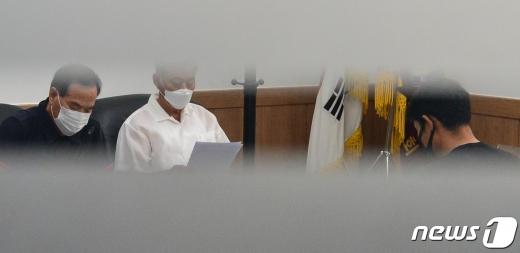 지난 2일 오후 열린 경주시체육회 인사위원회의 모습. /사진=뉴스1