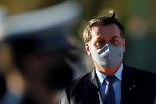 자이르 보우소나루 브라질 대통령이 신종 코로나바이러스 감염증(코로나19) 의심 증세를 보여 검사를 받았다. 사진은 자이르 보우소나루 브라질 대통령의 모습. /사진=로이터