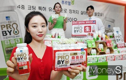 [머니S포토] 푸르밀, 장까지 살아가는 발효유 '프로바이오' 출시