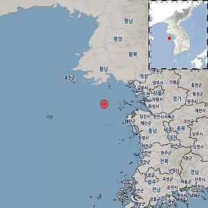 7일 오후 2시8분쯤 인천 옹진군 연평도 남남서쪽 54㎞ 지역에서 리히터 규모 3.3의 지진이 발생했다. /사진=기상청 제공