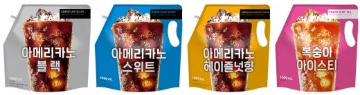 쟈뎅 세븐일레븐 1L 파우치 음료 4종/사진=쟈뎅