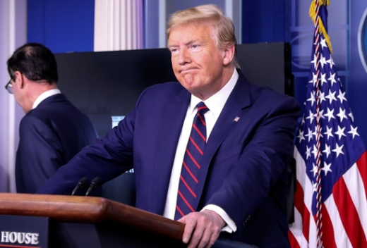 래리 호건 미국 메릴랜드 주지사가 도널드 트럼프 미국 대통령이 문재인 대통령과 상대하는 것을 좋아하지 않는다고 말했다고 폭로했다. 사진은 트럼프 미국 대통령. /사진=로이터