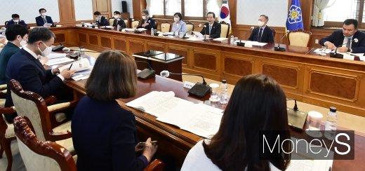 [머니S포토] 정세균 총리, '아동정책조정위' 회의