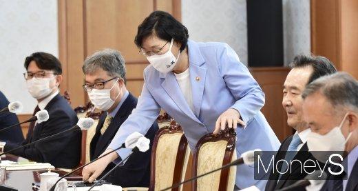 [머니S포토] 아동정책조정위 참석한 이정옥 장관