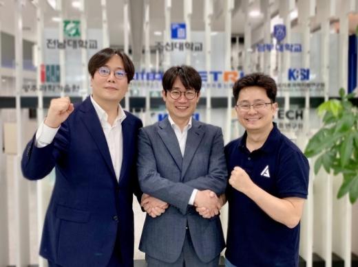 (왼쪽부터) 전용주 디토닉 대표, 이칠환 빈센 대표, 송영욱 튠잇 대표. /사진제공=빈센