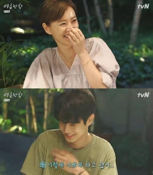 17일 방송된 tvN '여름방학'에는 정유미와 최우식이 출연했다. /사진=tvN '여름방학' 캡처