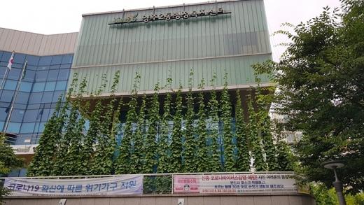 양주2동 행정복지센터 생태그늘막 조성 모습. / 사진제공=양주시