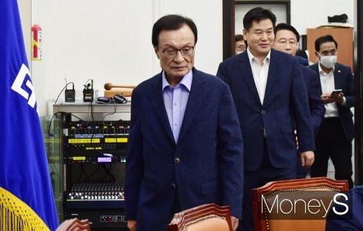 [머니S포토] 민주당, 대구·경북·제주 예산정책협의 참석한 이해찬 대표