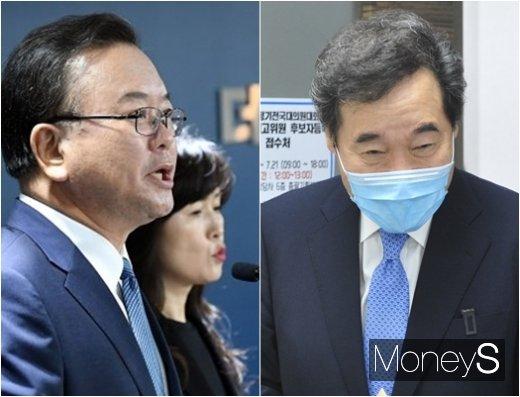 김부겸 전 의원과 이낙연 의원(왼쪽부터)이 20일 나란히 더불어민주당 대표직 후보 출마를 선언했다. /사진=머니S DB