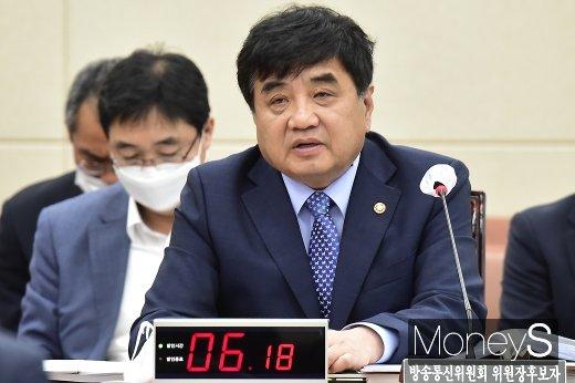 """한상혁 방송통신위원장 후보자가 YTN 지분매각설에 대해 """"전혀 고려하고 있지 않다""""고 선을 그었다. /사진=임한별 기자"""