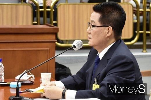 """[머니S포토] 박지원, """"형법만으로 대남공작 대응 한계…국보법 유지 필요"""""""