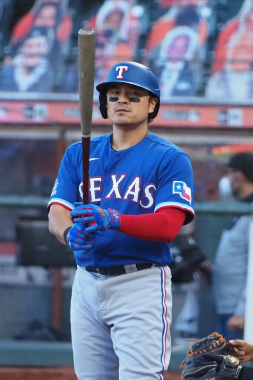 텍사스 레인저스 외야수 추신수가 시즌 2호 홈런을 쏘아올렸다. /사진=로이터