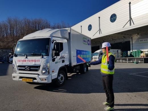 BGF리테일은 이재민이 발생한 경기도 이천 지역에 긴급구호물품을 지원했다. /사진=BGF리테일