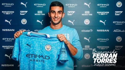 맨체스터 시티(맨시티)가 발렌시아의 윙어 페란 토레스(20) 영입을 공식 발표했다. /사진=맨시티 공식 홈페이지