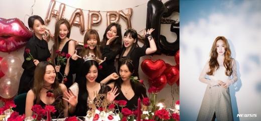 소녀시대 멤버들이 한 자리에 모여 데뷔 13주년을 자축한 가운데 언급되지 않은 제시카에 대한 누리꾼들의 관심이 뜨겁다. /사진=태연 인스타그램 캡처, 뉴시스(코리델엔터테인먼트 제공)