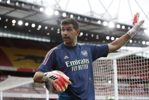 에밀리아노 마르티네즈가 잉글랜드 프리미어리그 공식 홈페이지로부터 '떠오르는 스타'로 소개됐다. /사진=로이터