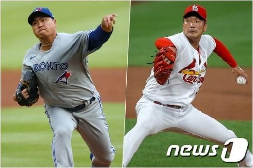 류현진(33·토론토 블루제이스)과 김광현(32·세인트루이스 카디널스) 18일(한국시간) 같은날 메이저리그 선발 마운드에 오를 전망이다./사진=뉴스1