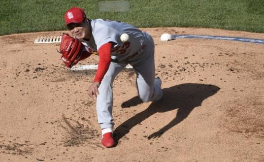 김광현(32·세인트루이스 카디널스)이 2020 메이저리그 시카고 컵스와의 경기에 선발 등판해 무난한 활약을 펼쳤다는 평가를 받았다. /사진=로이터