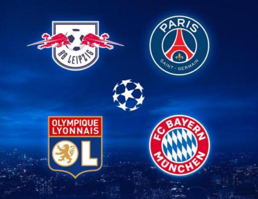 유럽축구연맹(UEFA) 챔피언스리그 8강전이 16일(한국시간) 마무리됐다. 4강 구도는 프랑스와 독일 클럽 간의 대결로 압축됐다. /사진=UEFA 챔피언스리그 공식 홈페이지 캡처