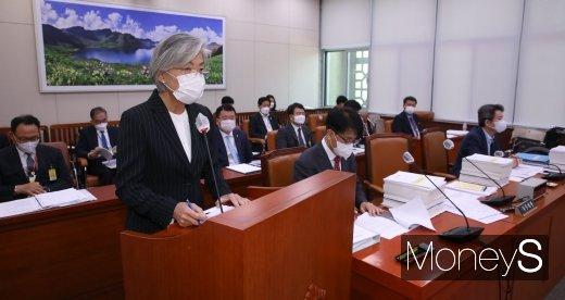 [머니S포토] 국회서 업무보고 하는 강경화 장관