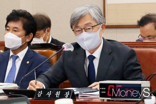 """[머니S포토] 최재형, """"월성 1호기 폐기, 결론 내놓고 감사 진행할 수 없어"""""""