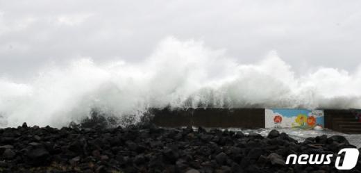 2일 오전 제주 서귀포시 표선면 세화리 앞바다에 태풍 마이삭의 영향으로 거센 파도가 치고 있다. /사진=뉴스1