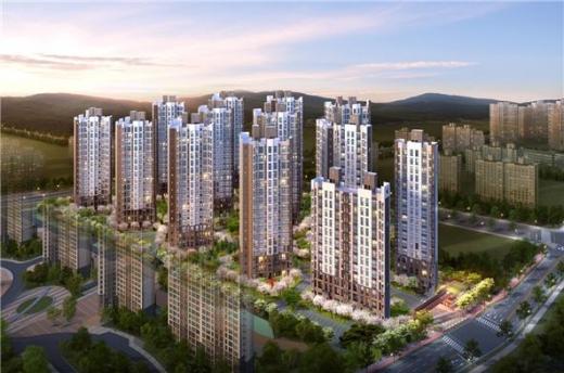 '내포신도시 EG the 1' 2차는 지하 1층~지상 최고 18층 아파트 13개 동 규모로 조성된다. 전 가구 선호도 높은 중소형 면적으로만 구성된다. /사진제공=피알메이저