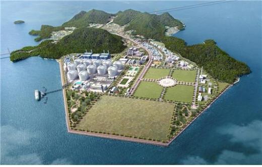 한양은 지난 3월 산업통상자원부로부터 전남 여수에 위치한 '동북아 LNG Hub 터미널'의 20만㎘급 LNG 저장탱크 1기 및 LNG 터미널 시설 전반에 대한 공사계획 승인을 받은 바 있다. /사진제공=한양