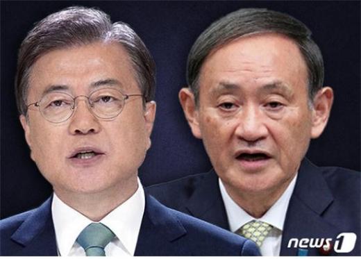 스가 요시히데 일본 총리가 문재인 대통령과 전화통화나 공식 회담을 등을 의도적으로 피하고 있다./사진=뉴스1