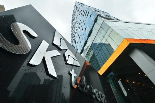 SK텔레콤의 자회사 가치가 최소 20조원이 될 것이라는 전망이다. 사진은 서울 을지로에 위치한 SK텔레콤 사옥.©뉴스1