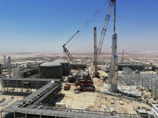 대림산업이 설치 완료한 사우디 암모니아 공장의 이산화탄소 제거 시설. /사진=대림산업