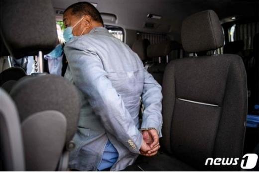 홍콩 언론계의 거물인 지미 라이는 8월 10일 홍콩보안법 위반 혐의로 체포됐다./사진=뉴스1