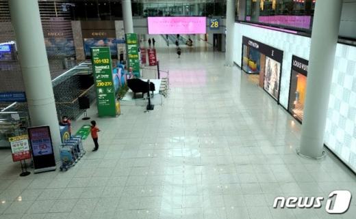 인천공항 제1터미널 면세점 모습./사진=뉴스1