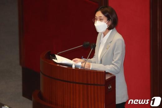 [사진] 토론하는 장혜영 의원