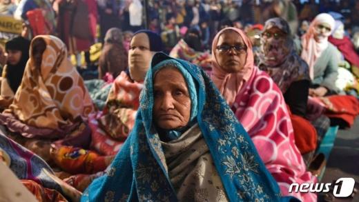 빌키스 할머니와 샤힌바그의 여인들 (BBC 캡쳐)© 뉴스1
